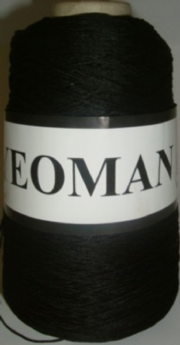 Yeoman Cannele Corded Mercerised Cotton 4ply Black Y196.030